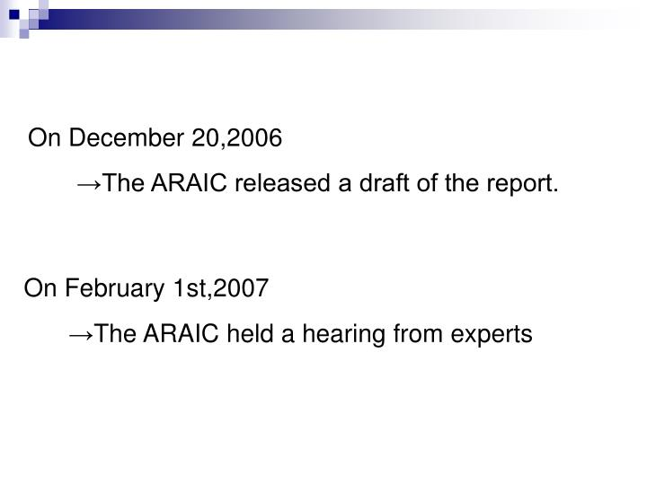 On December 20,2006