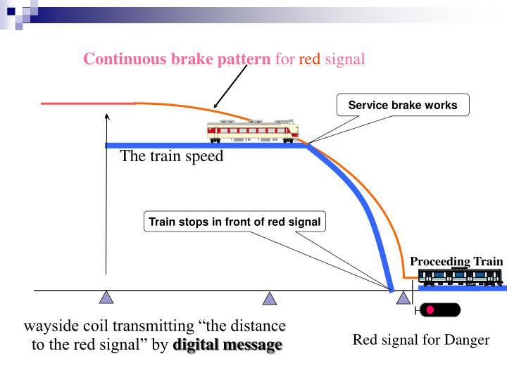 Continuous brake pattern