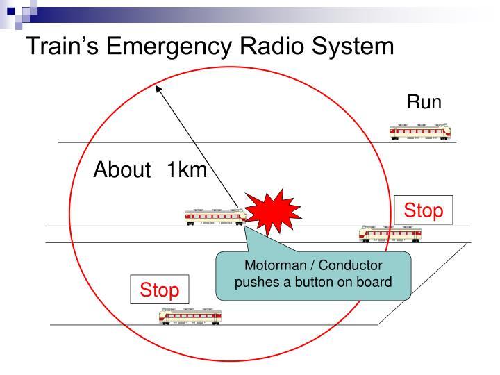 Train's Emergency Radio System