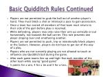 basic quidditch rules continued