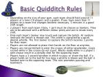 basic quidditch rules