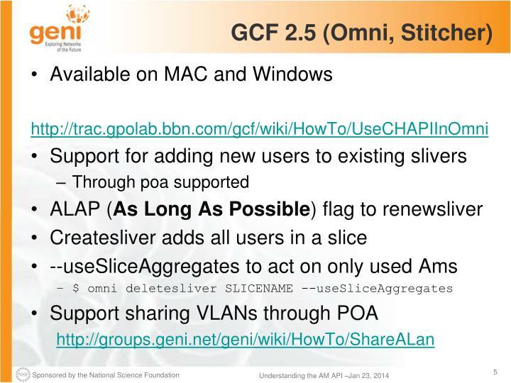 GCF 2.5 (Omni,
