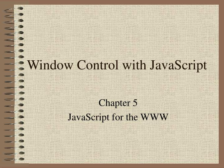 Window control with javascript
