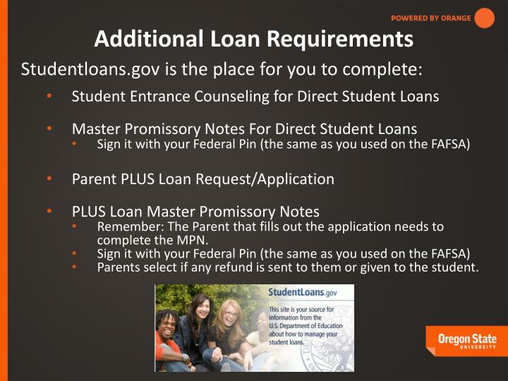 Additional Loan Requirements