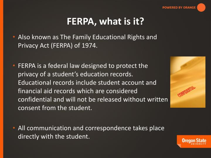 FERPA, what is it?