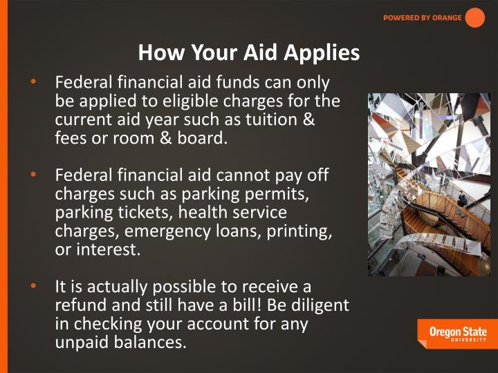 How Your Aid Applies