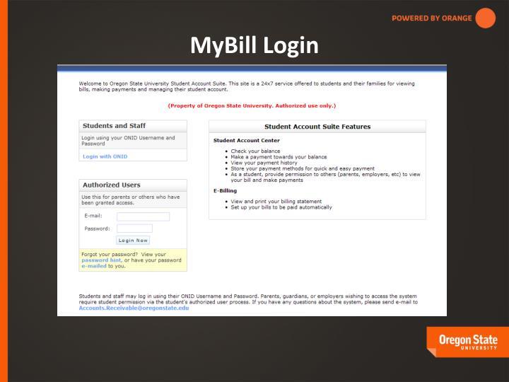 MyBill Login