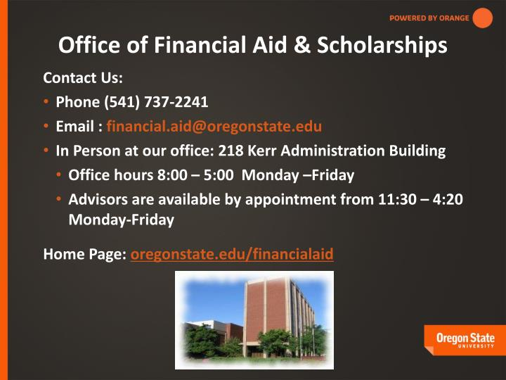 Office of Financial Aid & Scholarships