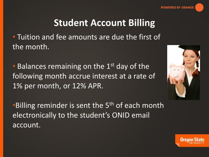 Student Account Billing