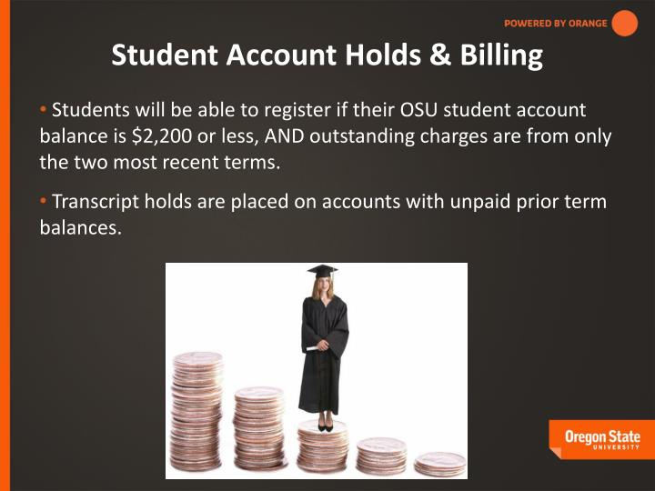 Student Account Holds & Billing