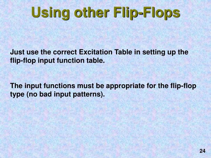 Using other Flip-Flops