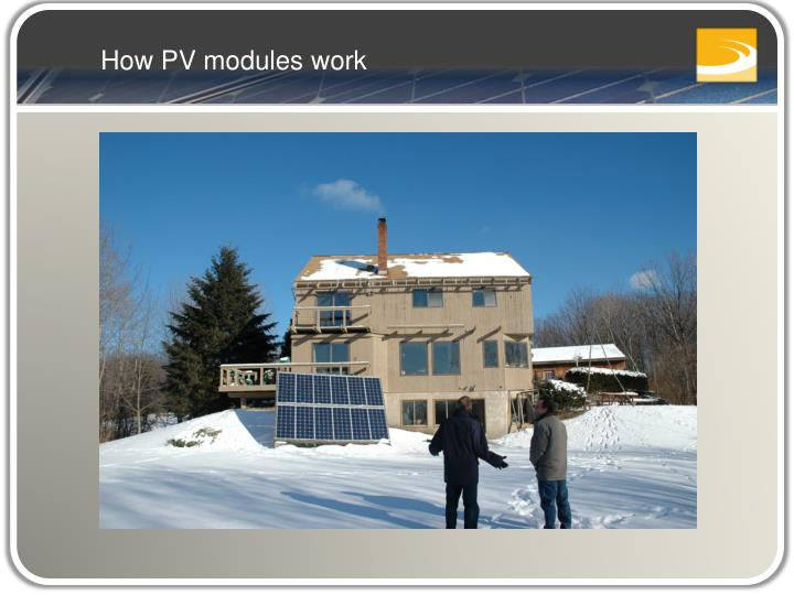 How PV modules work