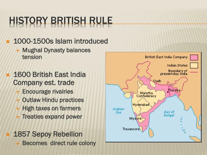 History British Rule