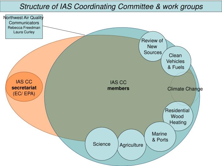 Structure of IAS Coordinating Committee & work groups
