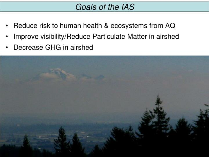Goals of the IAS