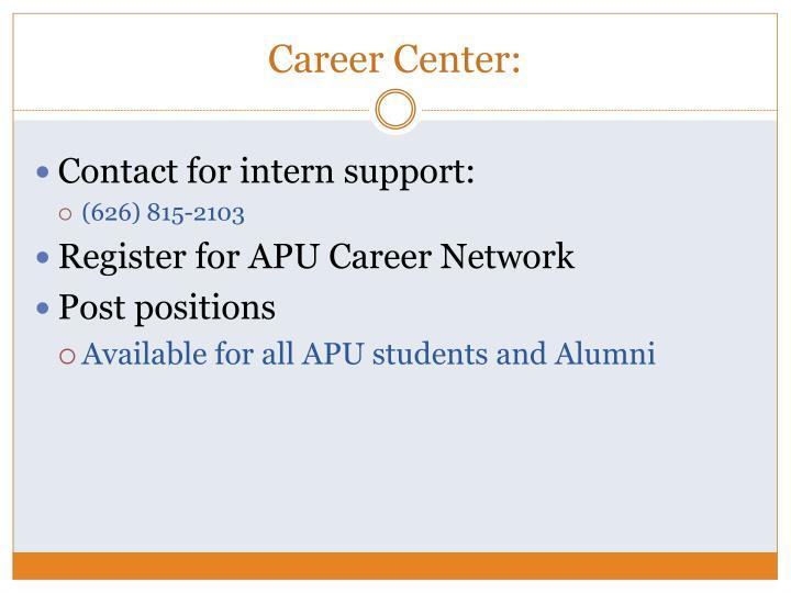 Career Center:
