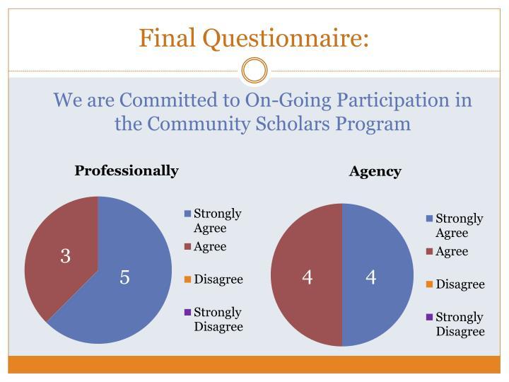 Final Questionnaire: