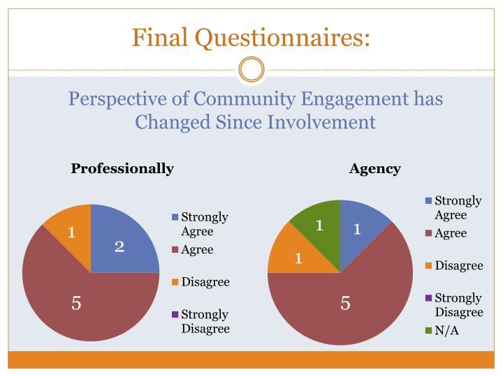 Final Questionnaires: