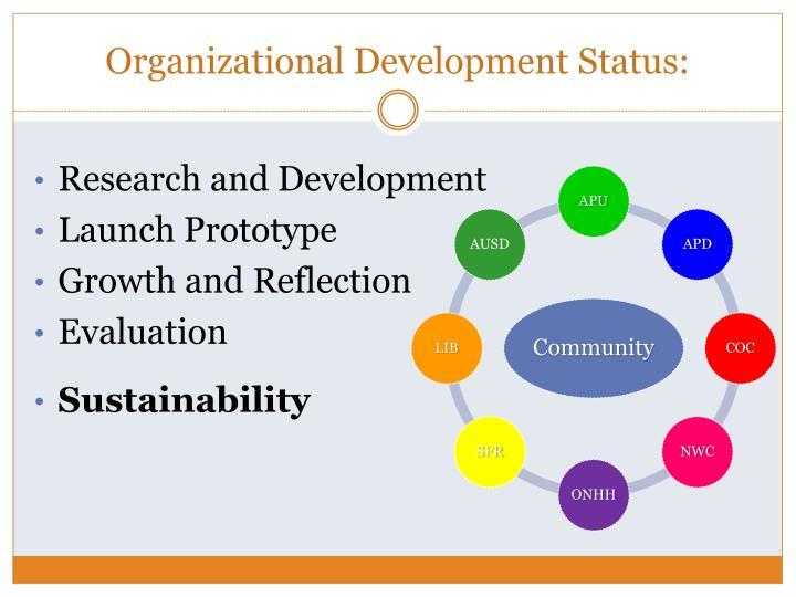 Organizational Development Status: