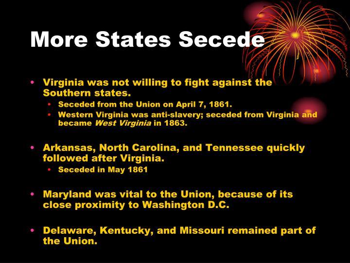 More States Secede