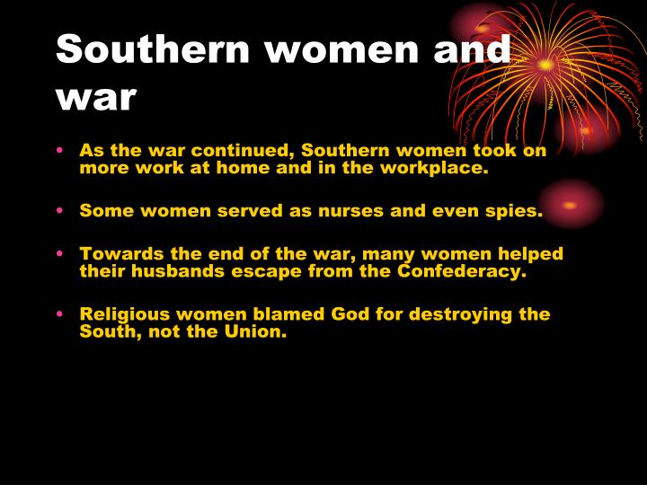 Southern women and war