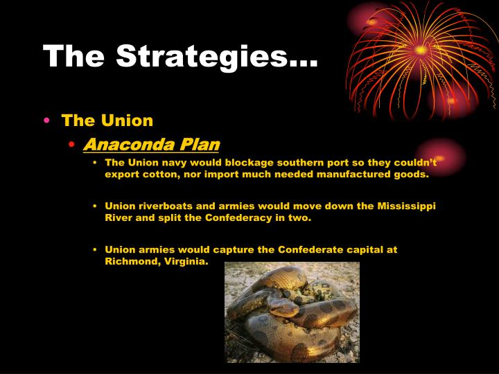 The Strategies…
