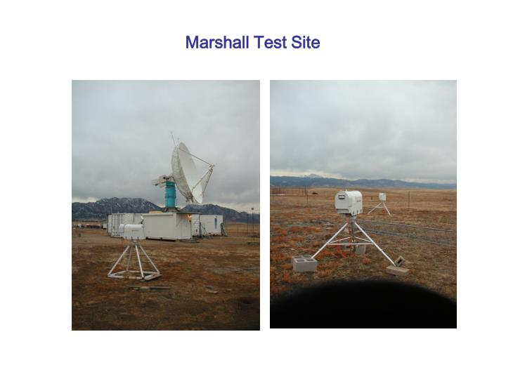 Marshall Test Site