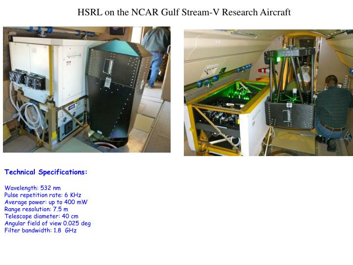 HSRL on the NCAR Gulf Stream-V Research Aircraft