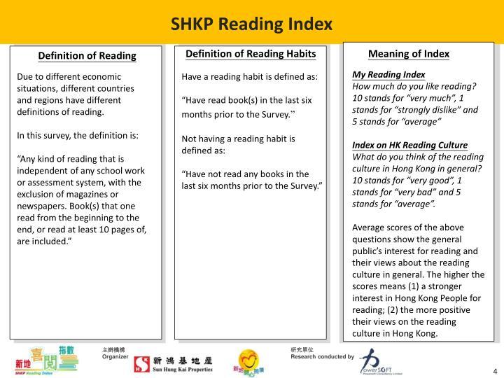 SHKP Reading Index