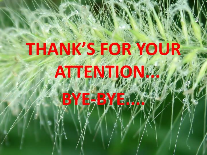 THANK'S FOR YOUR ATTENTION...