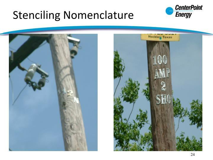 Stenciling Nomenclature
