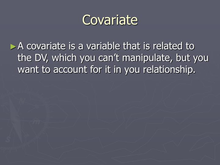 Covariate