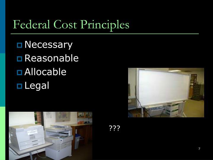 Federal Cost Principles