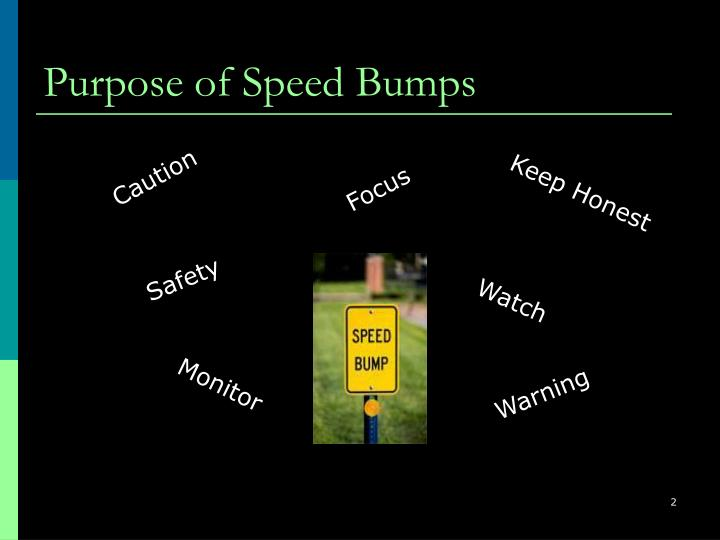 Purpose of Speed Bumps