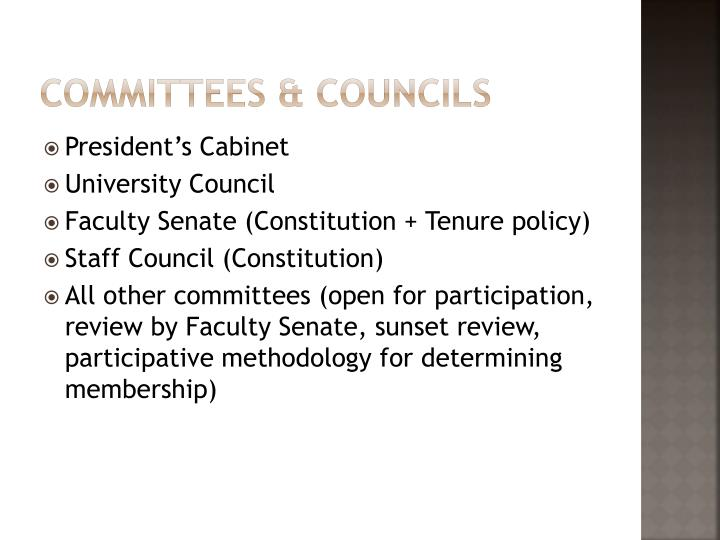 Committees & Councils