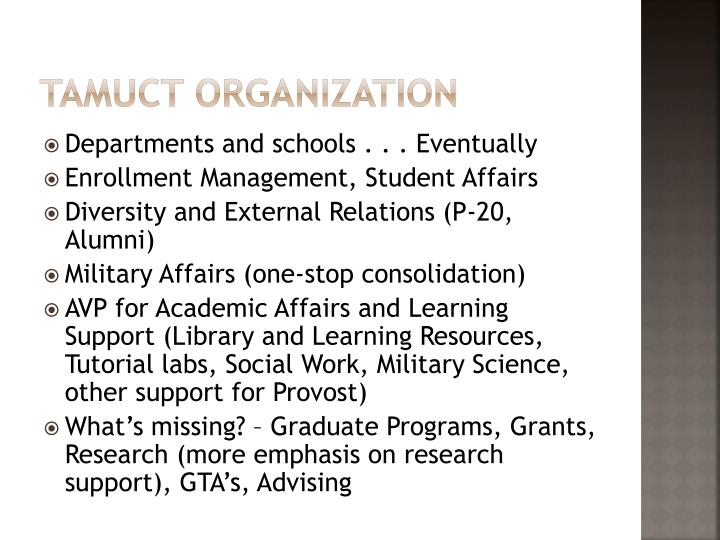 TAMUCT Organization