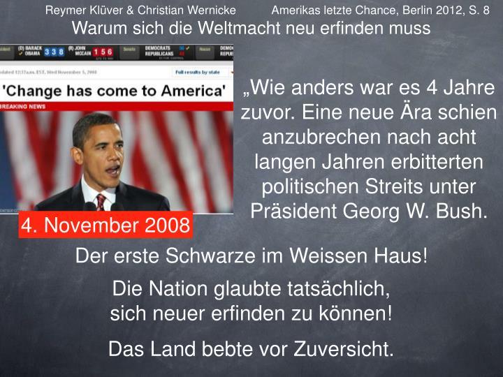 Reymer Klüver & Christian Wernicke           Amerikas letzte Chance, Berlin 2012, S. 8
