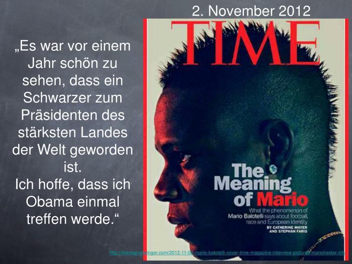 2. November 2012
