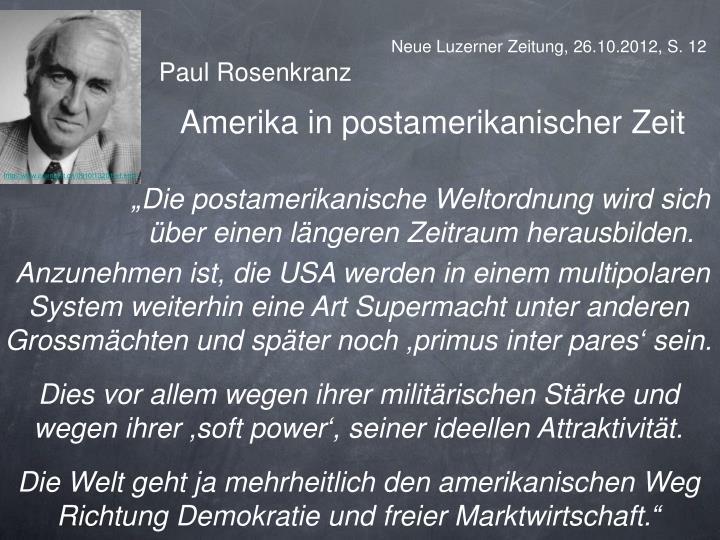Neue Luzerner Zeitung, 26.10.2012, S. 12