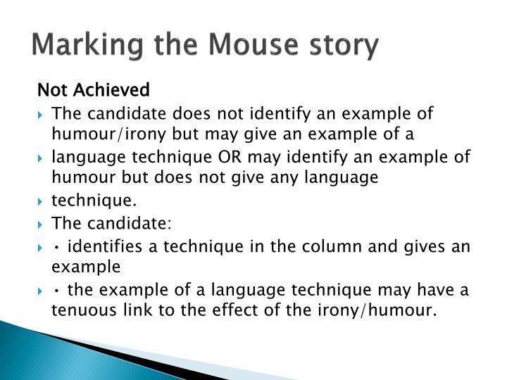 Marking the Mouse story