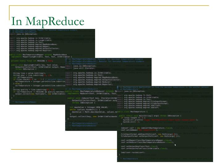 In MapReduce