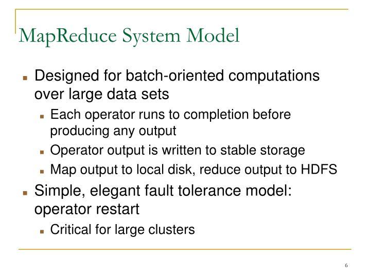 MapReduce System Model