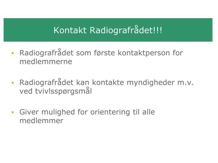 Kontakt Radiografrådet!!!