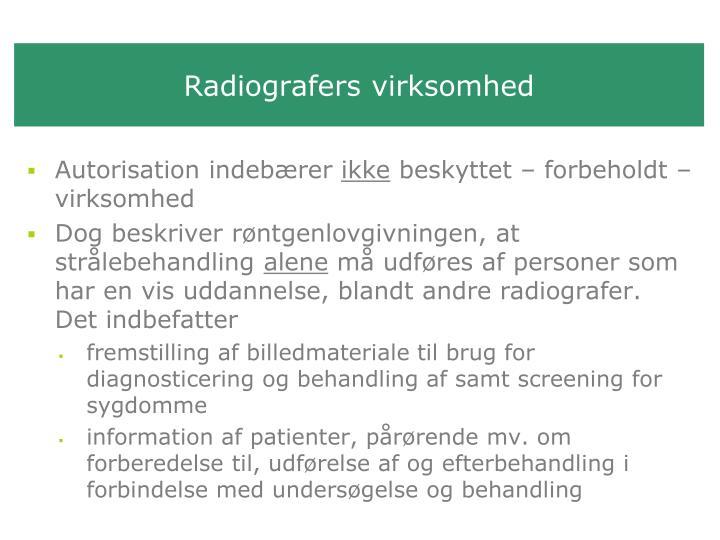 Radiografers virksomhed
