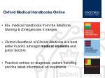 oxford medical handbooks online