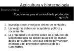agricultura y biotecnolog a