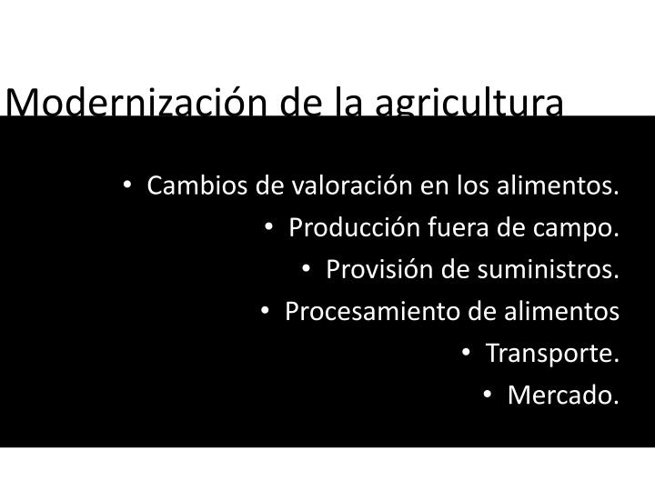Modernización de la agricultura