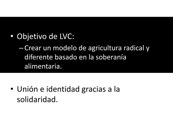 Objetivo de LVC: