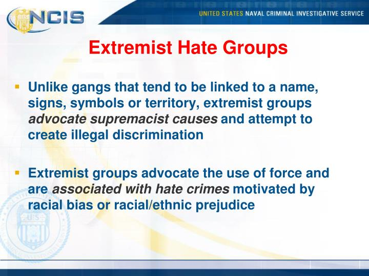 Extremist Hate Groups
