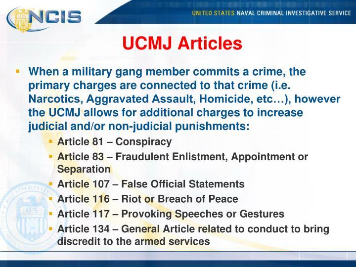 UCMJ Articles